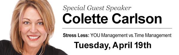 Guest Speaker Colette Carlson